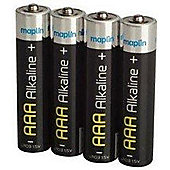 Maplin Extra Long Life AAA Alkaline Battery 4 Pack