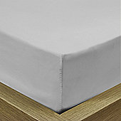Julian Charles Luxury 180 Thread Count Fitted Sheet - Silver