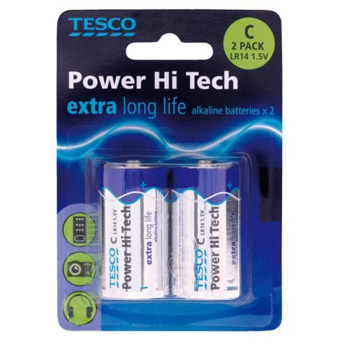 Tesco Hi Tech 2 Pack C Batteries