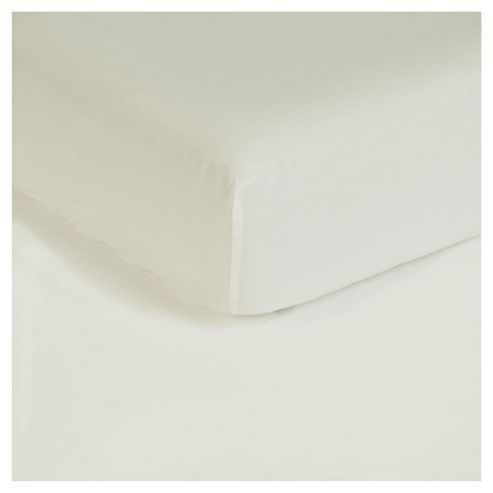 Finest Super King Fitted Sheet, Ivory