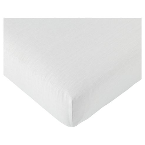 Tesco Value Double Fitted Sheet, White