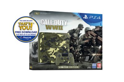 PlayStation 4 1TB Call of Duty: WWII Camo console - Exclusive