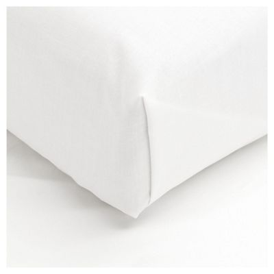 Tesco 100% Cotton Single Flat Sheet, White