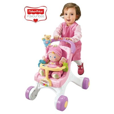 Fisher-Price Pink Stroll Along Walker