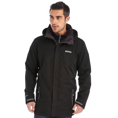 Regatta Mens Telmar 3 in 1 Jacket Black 3XL