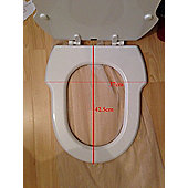 Incepa Hampton Replacement Toilet Seat White MDF