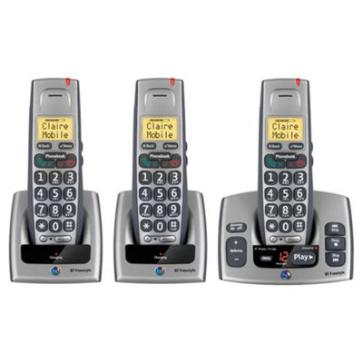 BT Freestyle 750 Cordless Telephone with Answer Machine