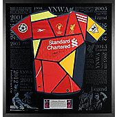 Signed Steven Gerrard Liverpool FC Shirt Montage - Exclusive Framed LED Display