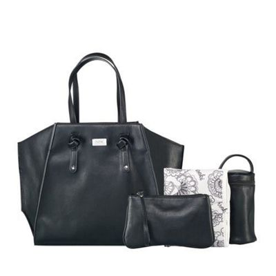 isoki Easy Access Tote Toorak Black - Changing Bag