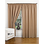Hamilton McBride Canvas Unlined Pencil Pleat Curtains - Taupe