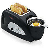 Tefal Toast & Egg TT550015 2 Slice Toaster - Black