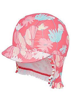 F&F Floral Print UPF 50+ Kepi Hat - Pink
