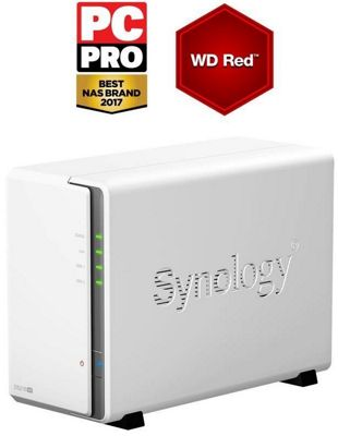 Synology DS216se 2TB (2 x 1TB WD RED) 2 Bay Desktop NAS Unit