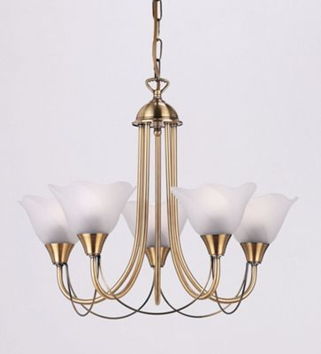 Endon Lighting Five Light Chandelier in Antique
