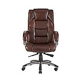 Alphason Northland High Back Soft Feel Leather Executive Chair - Brown