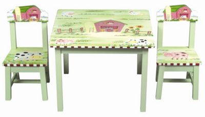 Guidecraft Farmhouse Table and Chair Set