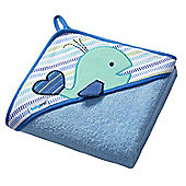 Large Hooded Baby Towel - Whale