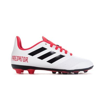 adidas Predator 18.4 FG Kids Football Boot White/Black Cold Blooded - UK 5