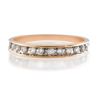 9ct Gold 25Pt Diamond Eternity Ring, P