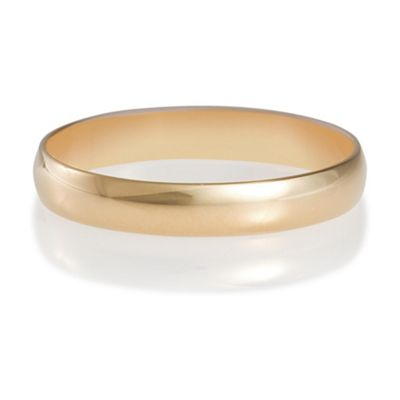 9ct Gold Ladies 3mm Plain Wedding Band, N