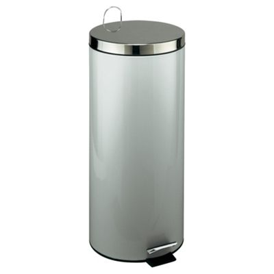30L Brushed Steel Kitchen Pedal Bin