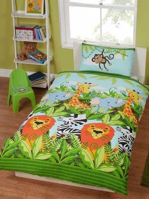 Jungle Friends Junior Duvet Cover And Pillowcase Set