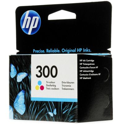 HP 300 Printer Ink Cartridge (CC643EE) - Tri-Colour