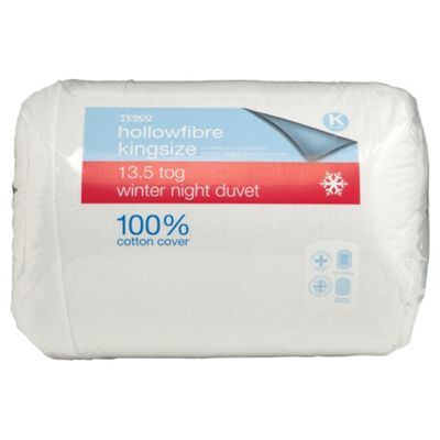 Tesco Standard Cotton Cover Kingsize Duvet 13.5 Tog