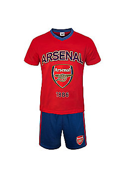 Arsenal FC Mens Short Pyjamas - Red