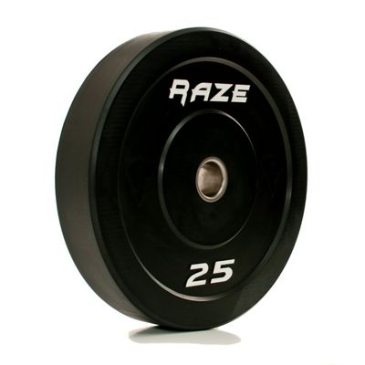 Raze 25kg Black Series Solid Rubber Olympic Plate (x1)