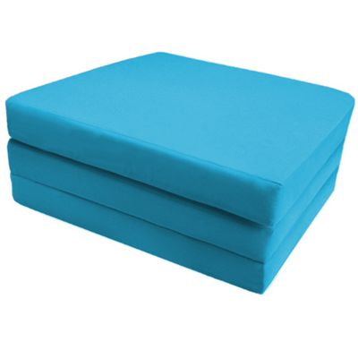 Ready Steady Bed Single Cotton Twill Fold Out Cube - Turquoise