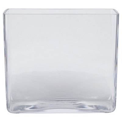Tesco Rectangular Tank Vase 18cm