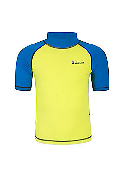 Mountain Warehouse Boys Rash Vest SPF50+ Treatment with Flat Seams for Swimming - Lime