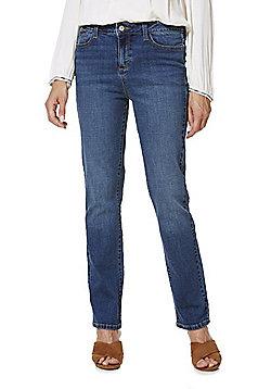 F&F Authentic Mid Rise Slim Leg Jeans - Mid wash