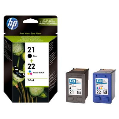 HP 21 / HP 22 Printer Ink Cartridge - Tri-Colour- Duplicate