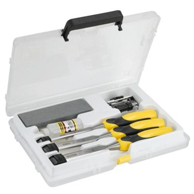 Stanley 3pc Dynagrip Chisel Set & Sharpening Kit