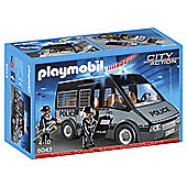 Playmobil 6043 City Action Police Van with Sounds and Lights with 2 Policemen