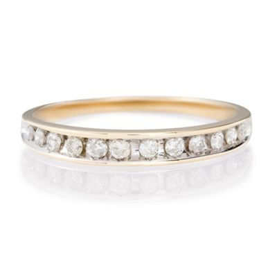 9ct Gold 1/4ct Diamond Eternity Ring, N