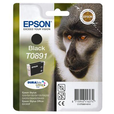 Epson Singlepack Black T0891 DURABrite Ultra Ink