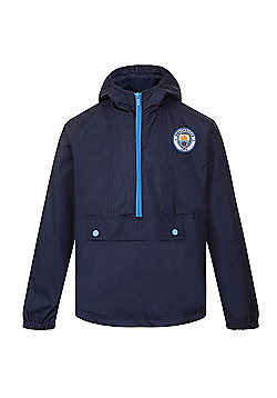 Manchester City FC Boys Shower Jacket - Navy & Multi