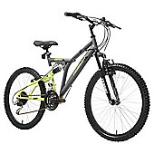 Terrain Dual Suspension 24 inch Wheel Grey Unisex Mountain Bike