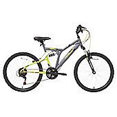 Terrain Dual Suspension 24 inch Wheel Grey Unisex Mountain Bike