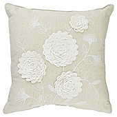 Tesco Applique Floral Cushion