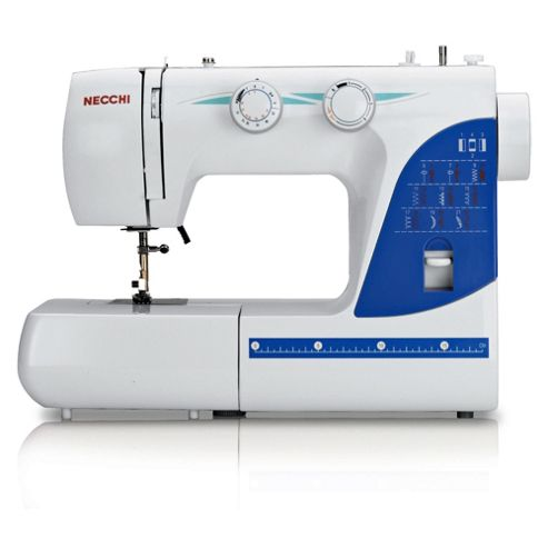 Necchi 215A Electronic Sewing Machine - White With Blue Trims