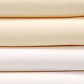 Bed-e-ByesPlain Flat Sheets 2 Pack - Yellow