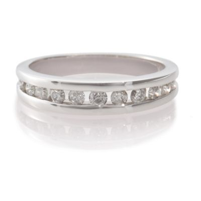 9ct White Gold 1/2ct Diamond Eternity Ring, N