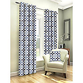 Tembury Denim Eyelet Curtains - 66x90 Inches (168x229cm)