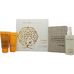 Decleor Recharge Your Life Awakening Box Gift Set 100ml Aurabsolu Refreshing Mist + 50ml Aroma Cleanse Smooth Exfoliating Cream + 50ml 1000 Grain Body