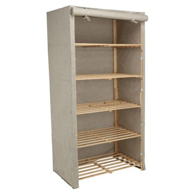 Tesco recycled fabric covered 5 shelf unit