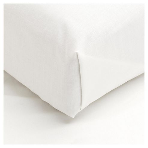 Tesco Brushed Cotton Double Fitted Sheet, Cream